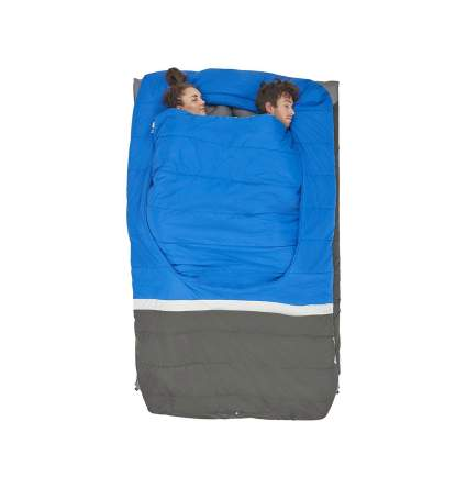 Sierra Designs Frontcountry Bed: 35 Degree Synthetic Double Sleeping Bag