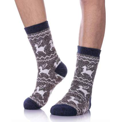 fuzzy Christmas socks for men