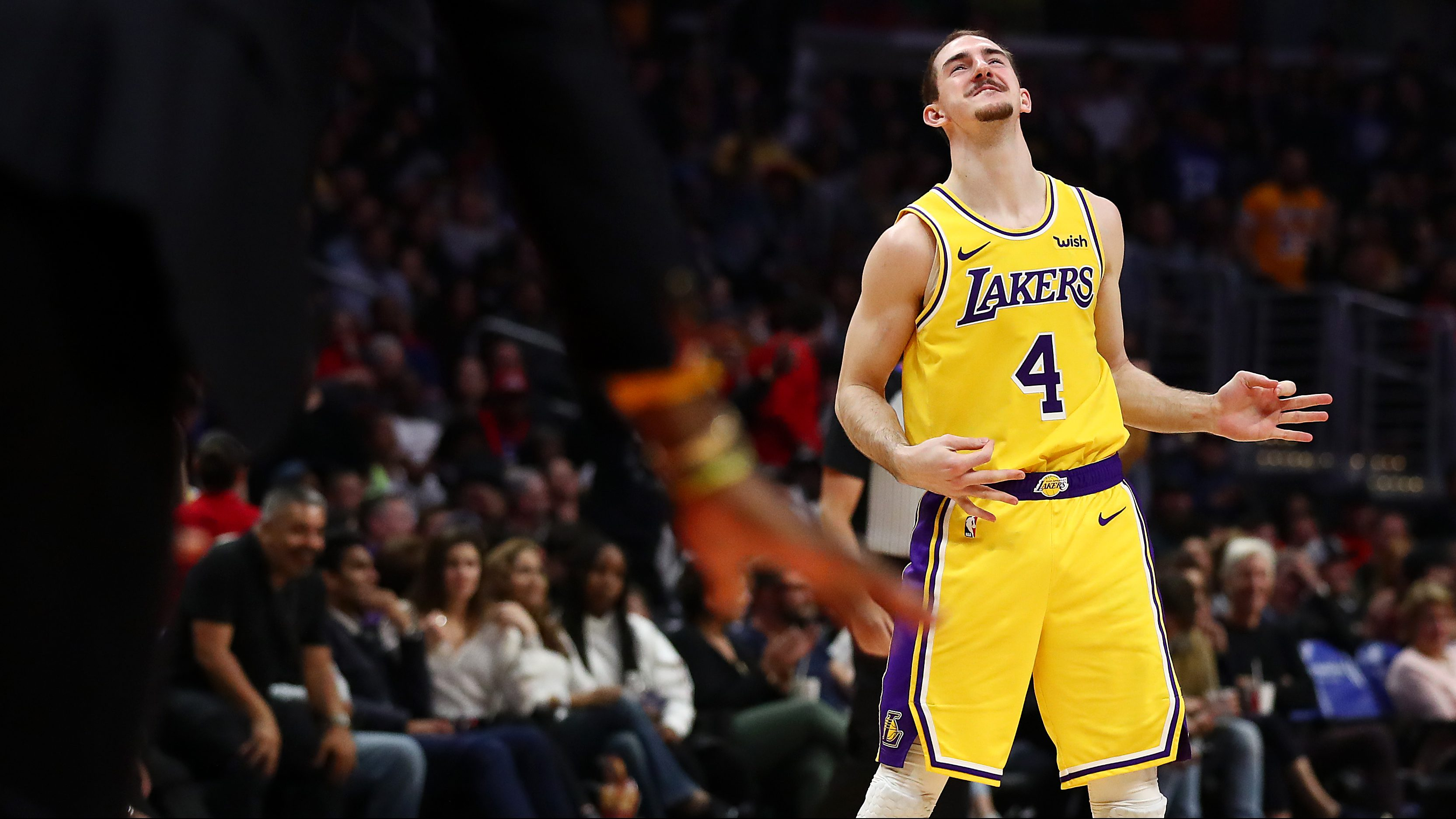 Rihanna Caught Checking Out Lakers Alex Caruso Heavy Com