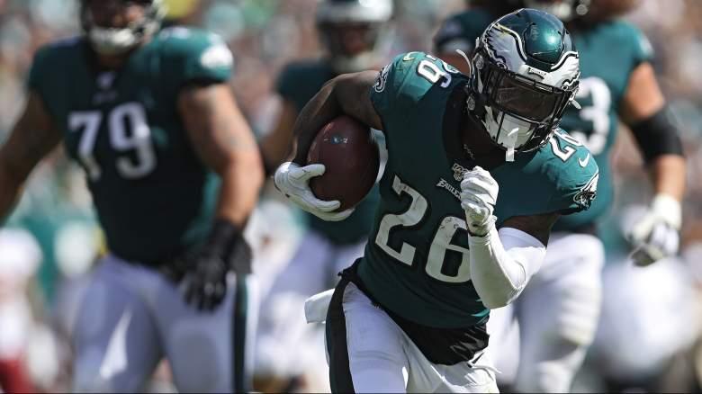 Eagles running back Miles Sanders