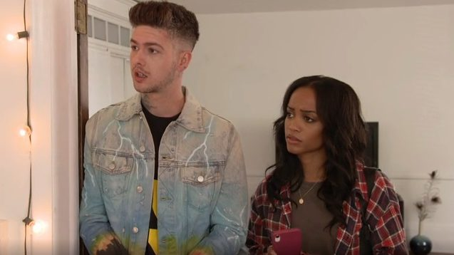 Ghosted Hosts Rachel Lindsay and Travis Mills on First Episode