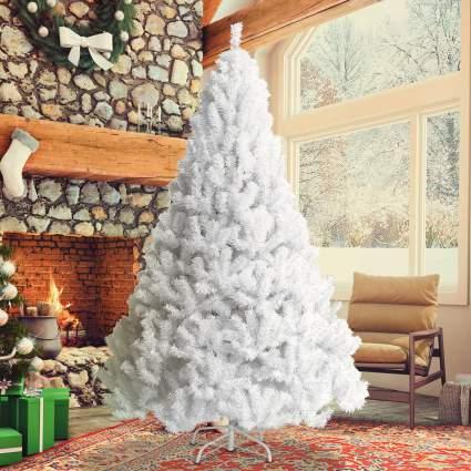 goplus white christmas tree