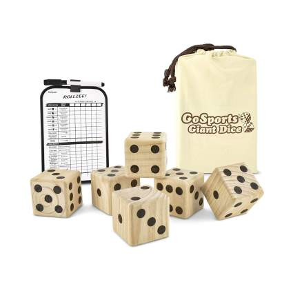 gosports giant wooden playing dice