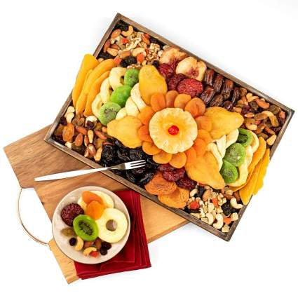 Gourmet Gift Baskets Dried Fruits and Nuts Platter