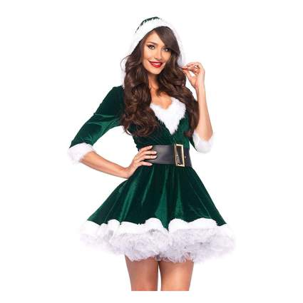green velvet elf dress