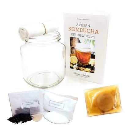 Grow and Make DIY Artisan Kombucha Brewing Kit