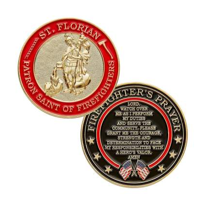 heros valor st florian coin firefighter gifts