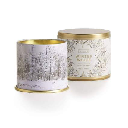illume winter white christmas candle