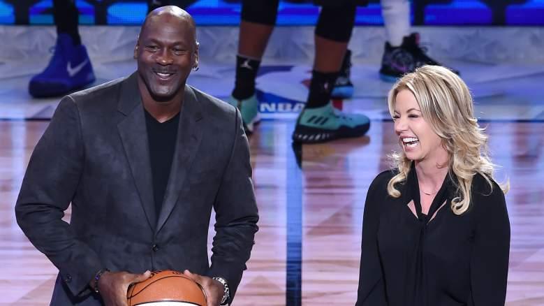 Jeanie Buss & Michael Jordan