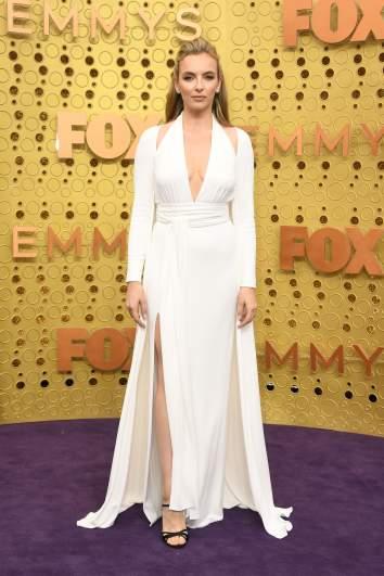 Actress Joe Comer arrives at the 2019 Emmy Awards.