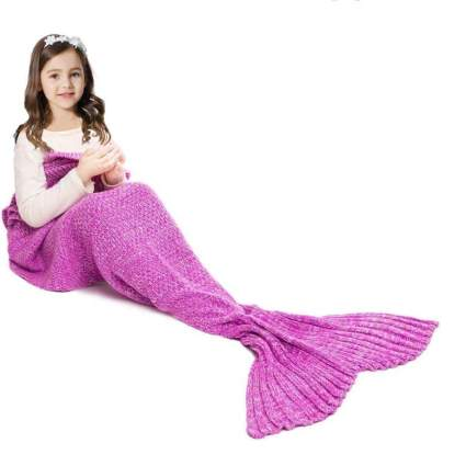 JR.WHITE Mermaid Tail Blanket for Kids and Adults