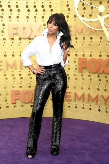 Actress Kerry Washington arrives at the 2019 Emmy awards.