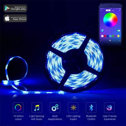 L8star Color-changing LED Strip Lights gifts for computer geeks