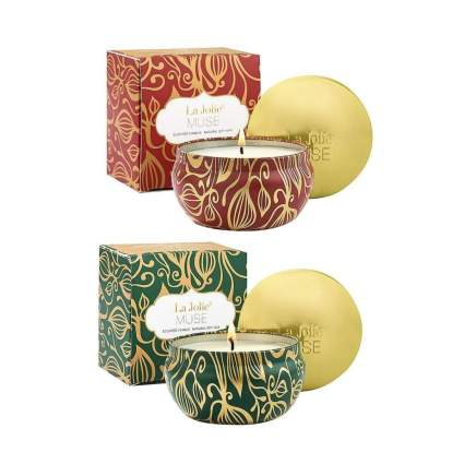 La Jolie Muse set of two christmas candles