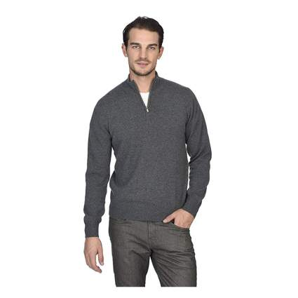 mens gray half zip cashmere sweater