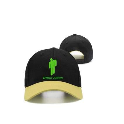 Men&Women Billie-Eilish- Peaked Cap Dad Yellow Trucker Baseball Hat Cap