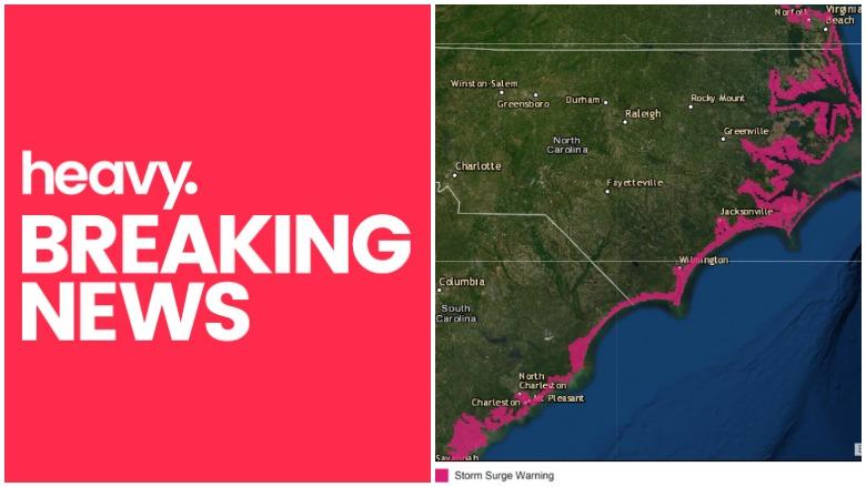 Hurricane Dorian storm surge map