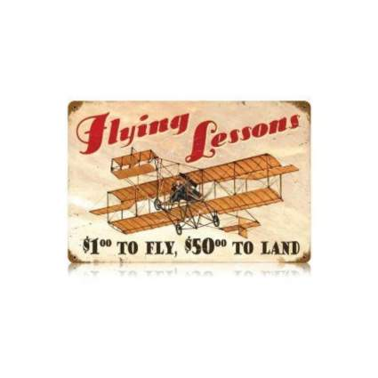 past time signs flying lessons sign avaition gifts