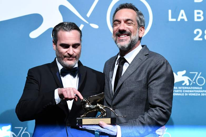 Joaquin Phoenix and Todd Phillips at the Venice Film Festival