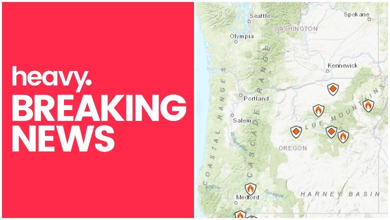 Oregon Washington Fire Map Track Fires Smoke Near Me Heavy Com