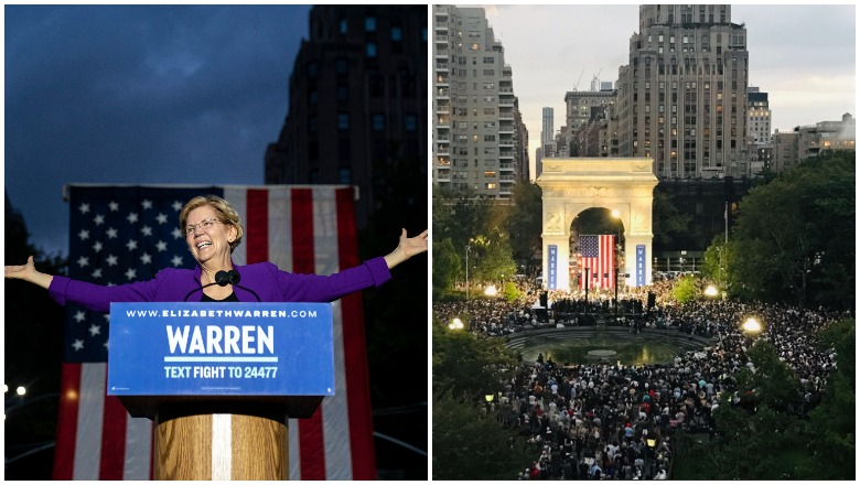 Elizabeth Warren Rally Crowd Size