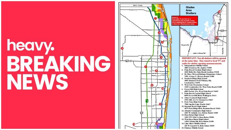 Florida Evacuation Zones Map Palm Beach County Evacuation Zones Map & Shelters for Dorian