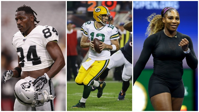 Antonio Brown may be suspended by the Raiders, the Packers got by the Bears on opening night, and Serena Williams cruises into the U.S. Open Final.