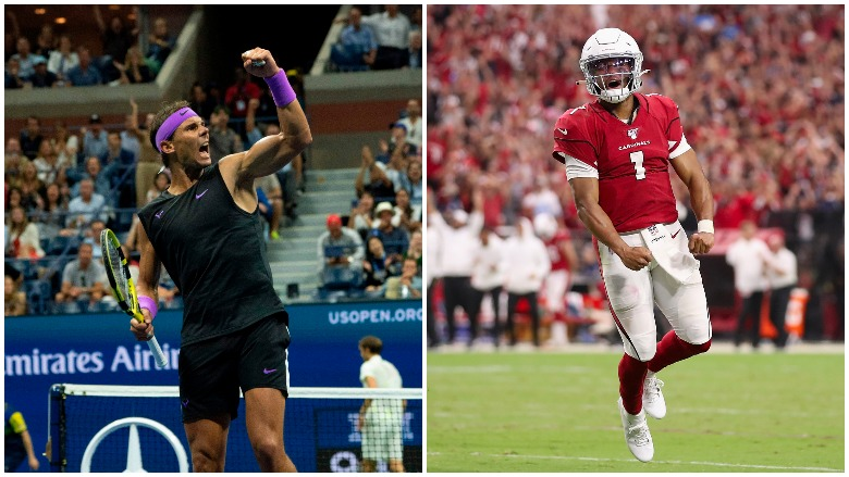 Rafael Nadal won an epic U.S. Open final and Kyler Murray rallied the Cardinals from a fourth quarter deficit in his debut.