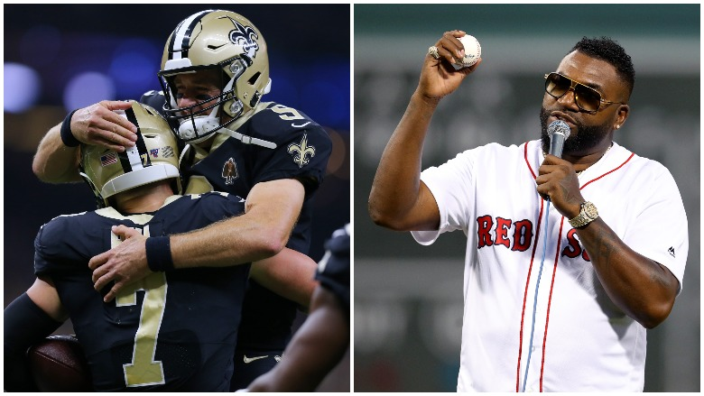 The Saints won in dramatic fashion against the Texans on MNF and David Ortiz returned to Fenway.