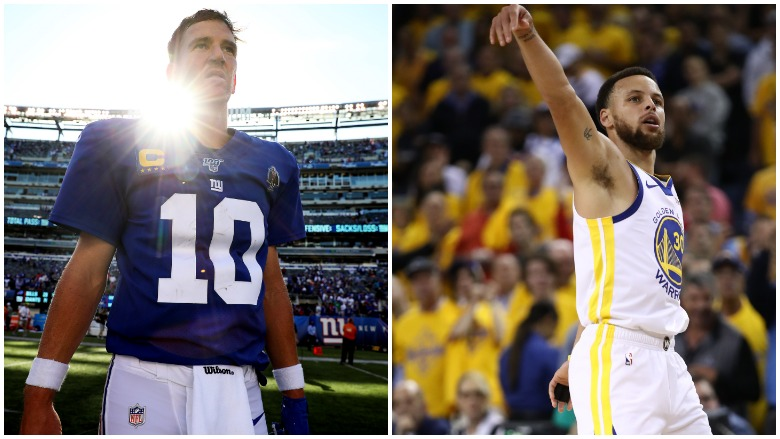 Eli Manning spoke publicly for the first time since being benched and Stephen Curry has committed to play for Team USA in the Olympics.