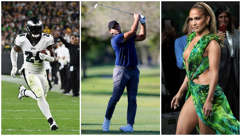 Jordan Howard scored three TDs for the Eagles, Tony Romo shot a 70 on the PGA TOUR and Jennifer Lopez and Shakira are going to perform at the Super Bowl LIV halftime show.