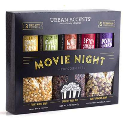 popcorn kernals and seasoning set