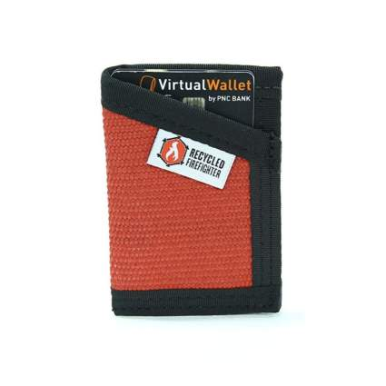 recycled firefighter slim wallet firefighter gifts
