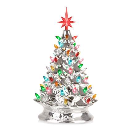 Shiny chome Christmas tree