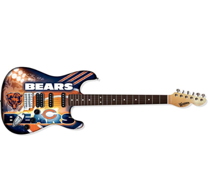 Woodrow Guitar by The Sports Vault NFL Chicago Bears Northender Electric Guitar