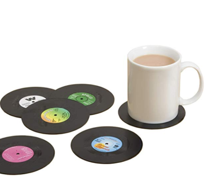 Spinning Hat Retro Vinyl Coasters