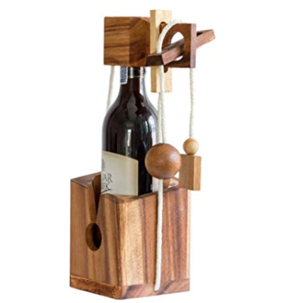Bottle Lock Challenges Wine Gift