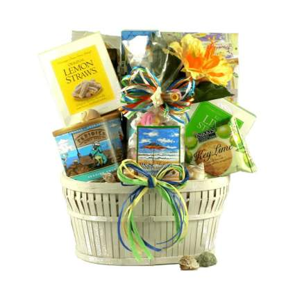 Seaside Snacks Summer Themed Gift Basket
