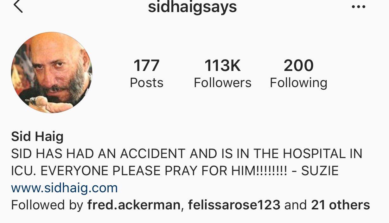 Sid Haig Instagram