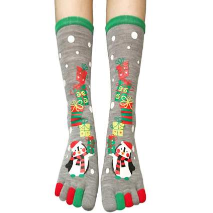 Christmas toe socks