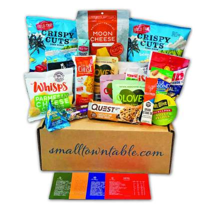 Smalltown Table Keto Snack Box Care Package
