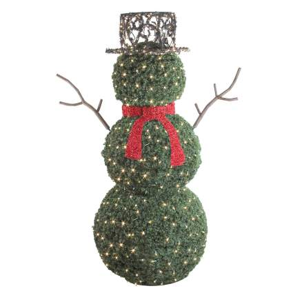 snowman topiary commercial christmas decorations