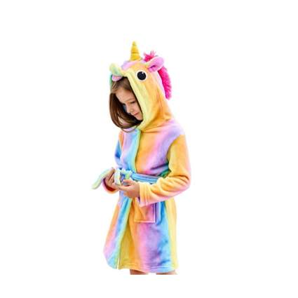 Soft Unicorn Hooded Bathrobe Sleepwear
