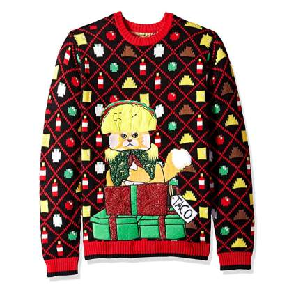 taco cat dictator christmas sweater