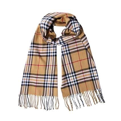 tartan plaid cashmere scarf