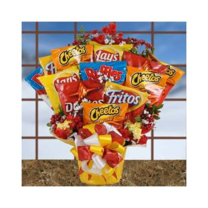 The Gift Basket Gallery Chip Mania Bouquet