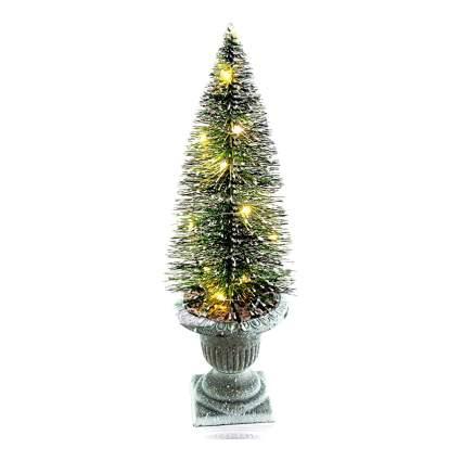 Bottle brush Christmas tree in urn base