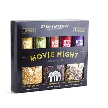Urban Accents Movie Night Popcorn and Seasoning Variety Pack