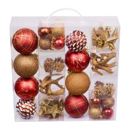 Rustic colored ornaments