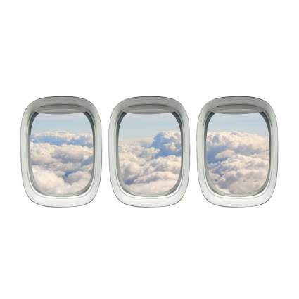vwaq airplane window wall decals aviation gifts